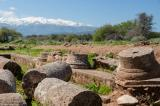 Ruins of a Roman villa with peristyle