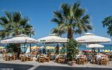 A restaurant terrace on Nea Chora beach front