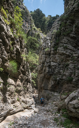 Walking in the gorge of Imbros